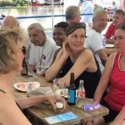 Mitglieder des RV Bille bei der Regatta Wilhelmsburg